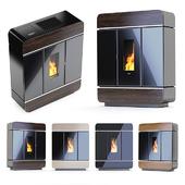 Fireplace Klover - Diva Slim wood