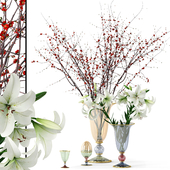 Griffe Montenapoleone vases with flowers