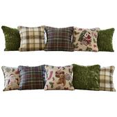 New Year / Christmas green pillows (Pillows New Year Christmas green YOU)