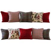 Pillows New Year / Christmas red and green pillows (Pillows