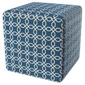 Geometric square pouf 6301-875