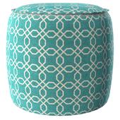 Geometric round pouf 6300-874
