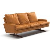 Fredrik Kayser - Leather and Rosewood Sofa