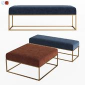 Box Frame Upholstered Bench & Ottoman West elm