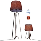 Table and floor lamps, model CAPUCINO, from the company LUCIDE, Belgium.