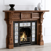 Antique Oak Fireplace