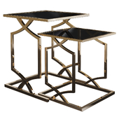 Two Piece Broken Gold Nesting Tables № 009