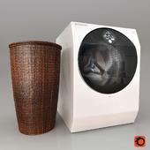 washing machine LG LSWD100 with a laundry basket