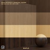 Material wood / maple solid wood / veneer (seamless) - set 54