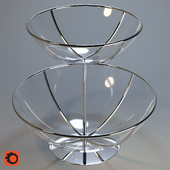 Fruit bowl two tier