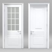 Whiter plastic door