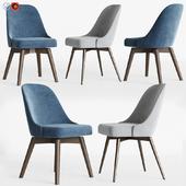 Mid-Century Swivel Office Chairs Set West elm