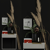 Decor with dry flowers 2