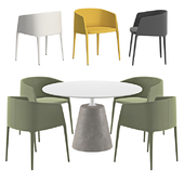 MDF Italia - Achille Armchair And Rock Table