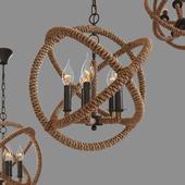 Tomshine  Pendant Lights rope 5  \ Rope LOFT1194-5