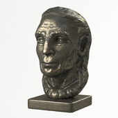 OLdMan Head Sculpture PBR lowpoly 3D Model