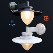 SESMA, outdoor lighting, wall lamps from the company LUCIDE, Belgium.