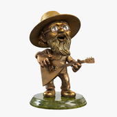 "Figurine ""Gardener with a balalaika"""