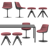 MDF Italia - Flow Chairs and Tense Table