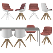 MDF Italia - Flow Chairs and Table