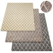 Braided Diamante Flatweave Collection Rug RH