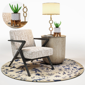 Capri Lounge Chair & RH Side Table Set