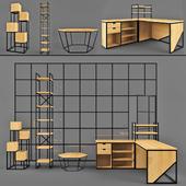 Furniture set 01 | Furniture made of metal and wood