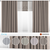 Curtains with tulle in 5 colors + Roman blinds.