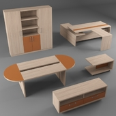 A set of furniture for the office