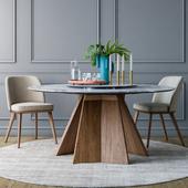 Calligaris Foyer chair Icaro round table