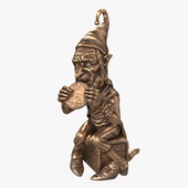 "Figurine ""Gnome with a coin"""