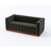 velor gray sofa