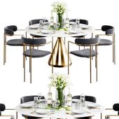 West Elm Dinning Set 7