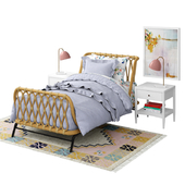 crate and barrel rattan kids bed