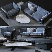 Sofa and chair Auto-reverse, coffee table Douglas
