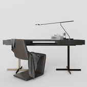 """Minotti Phillips chair and Close """"Writing Desk"""""""