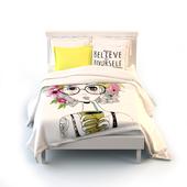 """Кровать. Комплект белья Сирень """"Летний смузи"""" 2-спальный"""