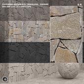 Материал (бесшовный) - камень, панель set 84