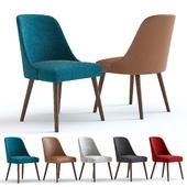 West Elm Mid-Century Chair. Wallnut legs