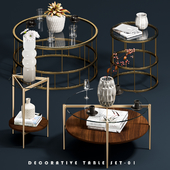 Decorative Coffee Tables Set 01