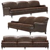 Restoration Hardware Barclay Leather Sofa