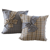 Plaid pillows with bows 2 YOU