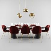 Gubi Beetle dining set