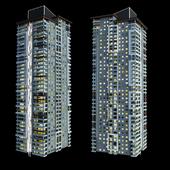 Modern residental, skyscraper