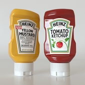 Heinz tomato ketchup & yellow mustard