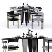 Kelly Wearstler Grafton Table and Elliot Chair