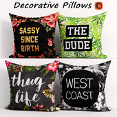 Decorative Pillow set 178 Text Guy