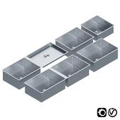 Stainless Steel Sinks by Dornbracht Set 01