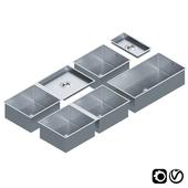 Stainless Steel Sinks by Dornbracht Set 02