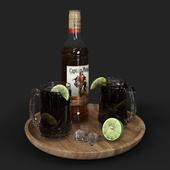 Captain Morgan Rum Set